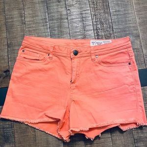 Salmon pink jeans shorts